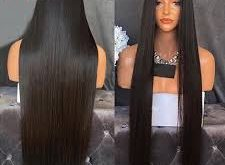 The glitterati and essence of bone straight hair