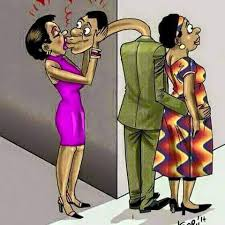 A man collected his wife bank card and went shopping with another woman