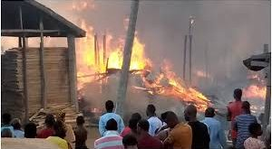 Fire brings down part of kugbo furniture market abuja