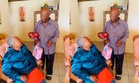 so romantic as 93-year-old grandfather surprises wife with special gift for valentine
